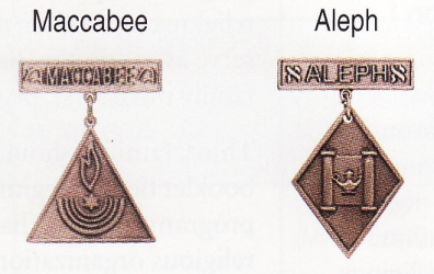 Maccabee and Aleph medals