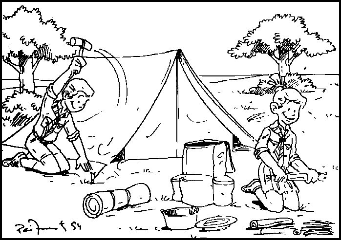 Webelos cub scout coloring page coloring pages for Leave no trace coloring page