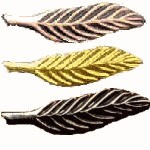 Bronze, Gold, and Silver Eagle Palm pins