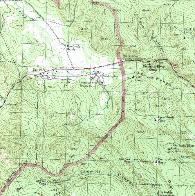 Philmont New Mexico Map.Usssp High Adventure Philmont
